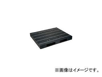 日本プラパレット プラスチックパレットZR-1315E-RR 両面二方差し 黒 ZR1315ERRBK(4635213)