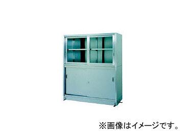 シンコー/SHINKOHIR ステンレス保管庫上部ガラス戸下部ステンレス戸ベース仕様 VG18060(4598717)
