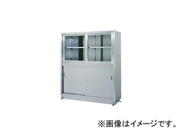 シンコー/SHINKOHIR ステンレス保管庫上部ガラス戸下部ステンレス戸ベース仕様 VG15060(4598695)