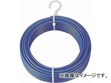 トラスコ中山 メッキ付ワイヤロープ PVC被覆タイプ φ4(6)mmX100m CWP-4S100(4891236) JAN:4989999336597