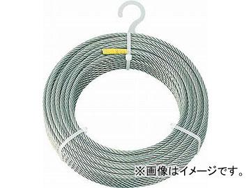 トラスコ中山 ステンレスワイヤロープ φ6mmX200m CWS-6S200(4891511) JAN:4989999336474