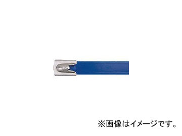 パンドウイット フルコーティングステンレススチールバンド 青 MLTFC6H-LP316BU(4774906)
