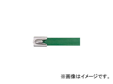 パンドウイット フルコーティングステンレススチールバンド 緑 MLTFC4H-LP316GR(4774841)