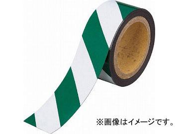 トラスコ中山 マグネット反射シート 緑・白 100mmX10m TMGH-1010GW(4779525) JAN:4989999312898