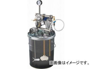 アネスト岩田 中形ダイヤフラムペイントポンプ 20Lペール缶用タンクマウント式 DPS-902E(4517041) JAN:4538995096556