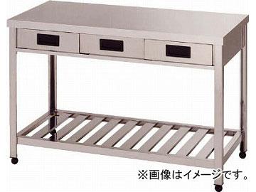 アズマ 片面引出し付作業台スノコ板付 750×600×800 HTO-750(4552296) JAN:4560155873097