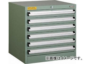 トラスコ中山 VE6S型キャビネット 600X550XH600 引出6段 VE6S-604(4790782)