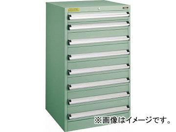 引出8段 600X550XH1000 VE6S-1003(4790545) トラスコ中山 VE6S型キャビネット