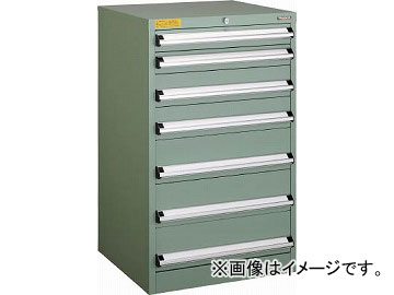 トラスコ中山 VE6S型キャビネット 600X550XH1000 引出7段 VE6S-1005(4790561)