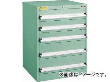 トラスコ中山 VE6S型キャビネット 600X550XH800 引出5段 VE6S-801(4790839)