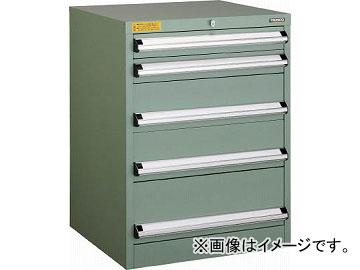 トラスコ中山 VE6S型キャビネット 600X550XH800 引出5段 VE6S-807(4790898)