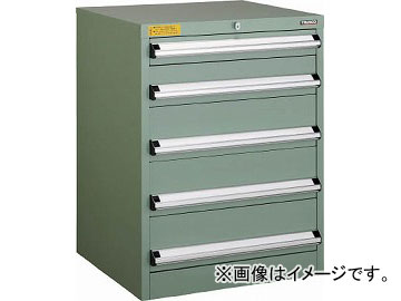 トラスコ中山 VE6S型キャビネット 600X550XH800 引出5段 VE6S-808(4790901)