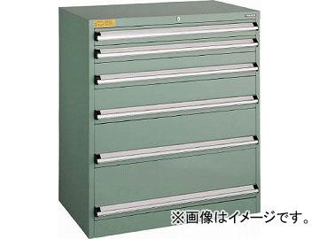 トラスコ中山 VE9S型キャビネット 880X550XH1000 引出6段 VE9S-1009(4791410)