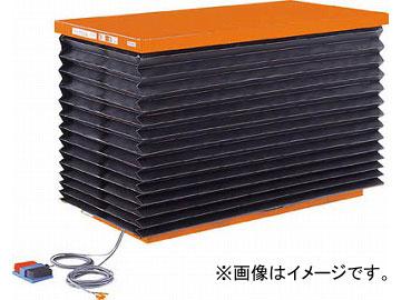 トラスコ中山 テーブルリフト1000kg 油圧式 750X1350 蛇腹付 HDL-100-0713J(4642686) JAN:4989999676877