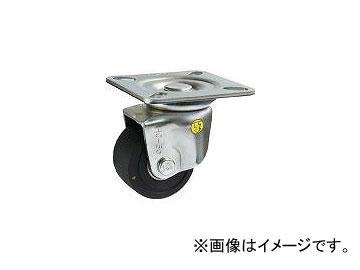 シシク 低床重荷重用キャスター自在75MCD導電性MCナイロン車輪三価クロメト HJ-75U-MCD(4660552) JAN:4537657150889