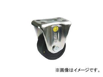 シシク 低床重荷重用キャスター固定75MCD導電性MCナイロン車輪三価クロメト HK-75U-MCD(4660587) JAN:4537657151039