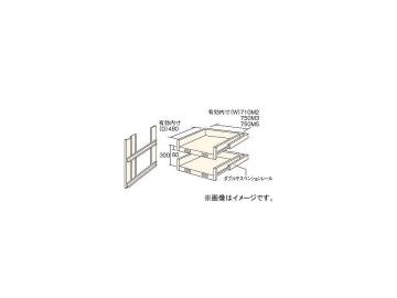 2018新入荷 M3・M5型棚用スライド棚 トラスコ中山 JAN:4989999743647:オートパーツエージェンシー 2段セット HTMM-6002(4613911)-DIY・工具
