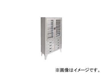 米沢 ステンレス保管庫両開きタイプ W900XD360XH1700 NA-900-G8(4729897)