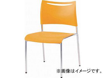 アイリスチトセ ミーティングチェアLTS オレンジ 背・座樹脂 LTS-4MZ-OG(4710479) JAN:4905865980251
