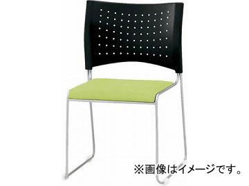 TOKIO ミーティングチェア(スタッキング) ビニールレザー リーフグリーン NSC-10L-LG(4932579)
