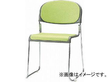 <title>送料無料 再再販 TOKIO ミーティングチェア スタッキング ビニールレザー インディゴブルー FNM-10L-IB 4932501 JAN:4942646064625</title>