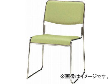 TOKIO スタッキングチェア ステンレス脚タイプ ビニールレザー リーフグリー FSC-15SL-LG(4932552)