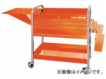 バーコ ロールカート3段引き出し+2トレイ オレンジ 1470KC5(4984145)