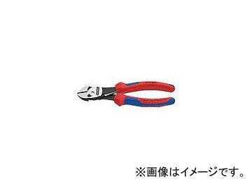クニペックス ツインフォースニッパー バネ付 180mm 7372-180F(4972490)