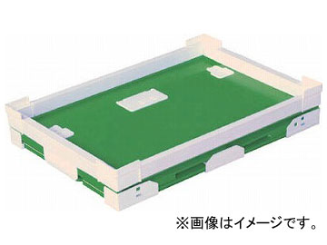 国盛化学 プラダン折畳み FNSコンテナ 50L(SWコーナー) ライトグリーン 79301-FNS50L-LG(7605757)