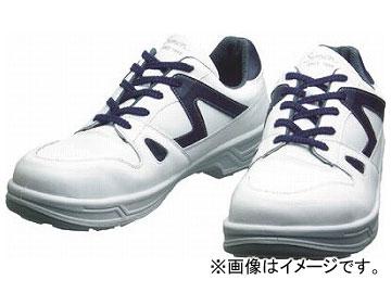シモン 安全靴 短靴 8611白/ブルー 23.5cm 8611WB-23.5(3514099)