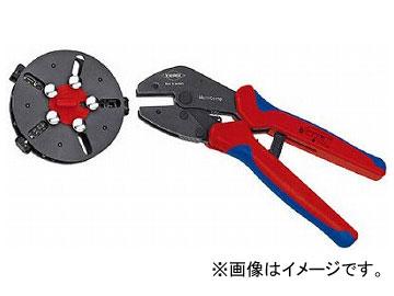 超美品の クニペックス マルチクリンプ 9733-01(4963920):オートパーツエージェンシー マガジン付圧着工具-DIY・工具