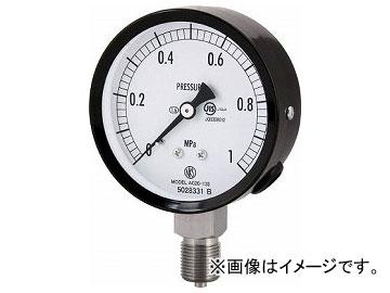 長野 普通形圧力計(A枠立形・φ75・G3/8B・0.0~0.16Mpa) AC20-133-0.16MP(4984404)