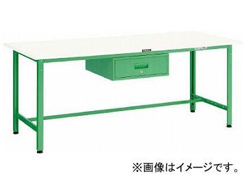 トラスコ中山 AE型作業台 900X600XH740 1段引出付 DG色 AE-0960F1 DG(7701357)