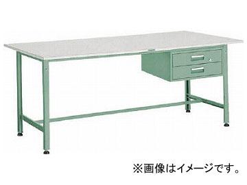 トラスコ中山 AE型作業台 900X600XH740 2段引出付 AE-0960F2(2784459)