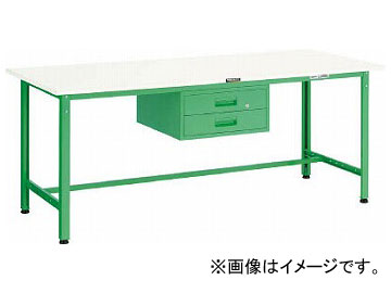 トラスコ中山 AE型作業台 900X600XH740 2段引出付 DG色 AE-0960F2 DG(7701373)