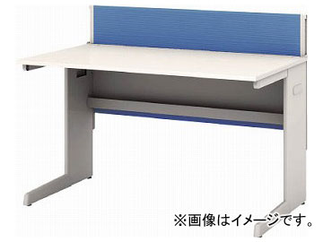 IRIS デスクパネル・コンセント付デスク幅1200mm ブルー CPD-1270-W-BL(7594119)