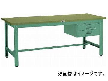 トラスコ中山 GWS型作業台 900X600XH740 2段引出付 GWS-0960F2(3012212)