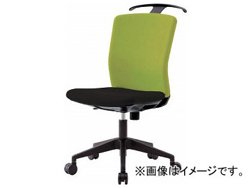 IRIS ハンガー付回転椅子(フリーロッキング) グリーン/ブラック HG-X-CKR-46M0-F-LGN(7594259)