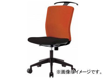 IRIS ハンガー付回転椅子(フリーロッキング) オレンジ/ブラック HG-X-CKR-46M0-F-OG(7594275)