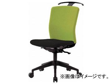 IRIS ハンガー付回転椅子(シンクロロッキング) グリーン/ブラック HG-X-CKR-S46M0-F-LGY(7594305)