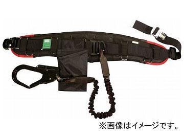 KH エアー式補助帯付安全帯 じゃばら式 タフアルミ 自在環 アロッキー 黒/緋 HWKL-KR(7709595)
