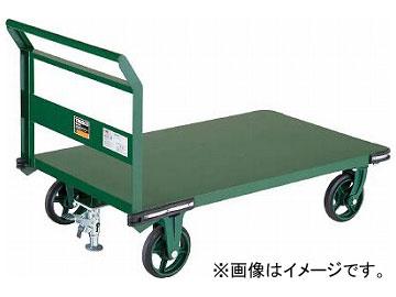 トラスコ中山 鋼鉄製運搬車 1200X750 φ200鋳物車輪 LS付 OH-1SS(7680716)