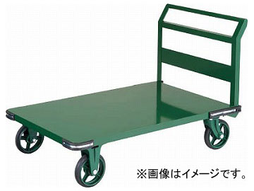 トラスコ中山 鋼鉄製運搬車 900X600 ハンドル側自在車 鋳物車輪 OH-2R(7680759)