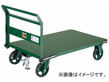 トラスコ中山 鋼鉄製運搬車 900X600 ハンドル側自在車 鋳物車輪 LS付 OH-2RSS(7680767)
