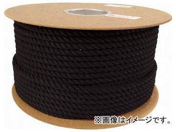 ユタカ ロープ 綿ロープドラム巻 9φ×150m ブラック PRC-51(7684827)