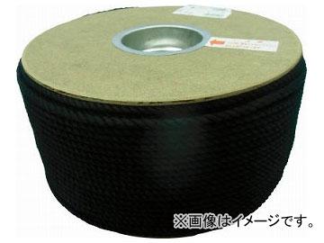 ユタカ ポリエステルロープ ドラム巻 5φ×200m 黒 PRS-91(7541406)