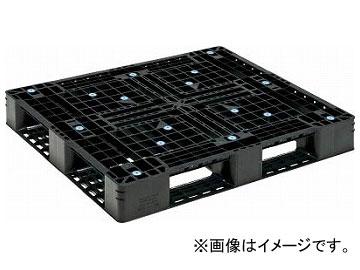 サンコー プラスチックパレット D4-1012-5 黒 SK-D4-1012-5-BK(4593910)