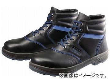 シモン 安全靴 編上靴 SL22-BL 黒/ブルー 26.0cm SL22BL-26.0(4351410)