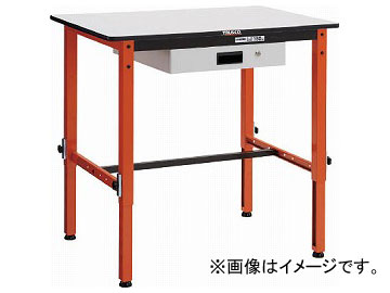 トラスコ中山 高さ調整式作業台 TFAEM型 薄型1段引出付 900×600 TFAEM-0960UDK1(7703619)