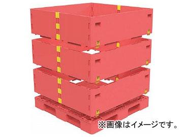 トラスコ中山 マルチステージコンテナ 3段 1100×1100 赤 TMSC-S1111-R(7698208)